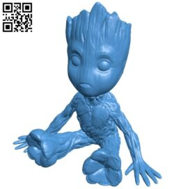 Baby Groot in the superhero squad B007350 file stl free download 3D Model for CNC and 3d printer