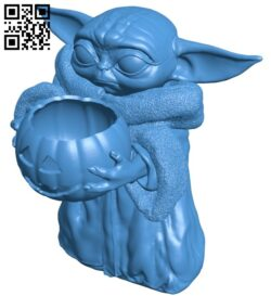 Baby Yoda B007328 file stl free download 3D Model for CNC and 3d printer