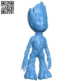 Baby groot B007549 file stl free download 3D Model for CNC and 3d printer