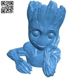 Baby groot B007551 file stl free download 3D Model for CNC and 3d printer