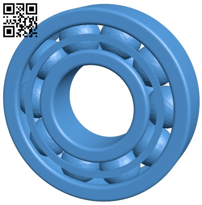 Ball bearing 54mm B007558 file stl free download 3D Model for CNC and 3d printer