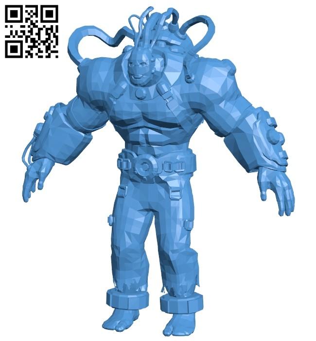 Bane war B007560 file stl free download 3D Model for CNC and 3d printer