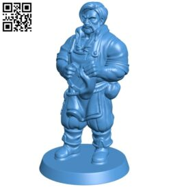 Barkeeper man B007561 file stl free download 3D Model for CNC and 3d printer