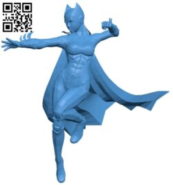 Bat girl 25 B007564 file stl free download 3D Model for CNC and 3d printer