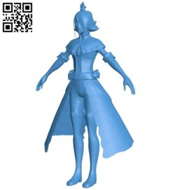 Battlerite – miss Jade B007567 file stl free download 3D Model for CNC and 3d printer