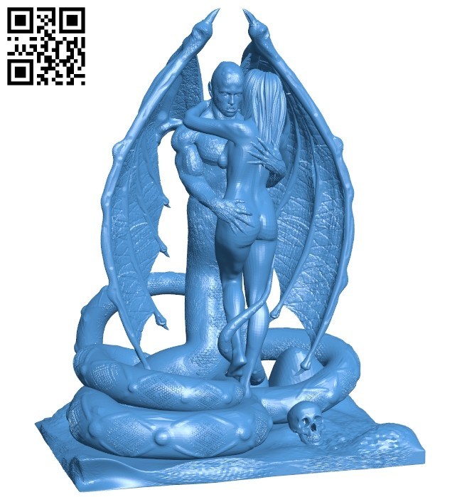Beauty and devil B007346 file stl free download 3D Model for CNC and 3d printer