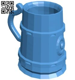 Beer mug B007148 file stl free download 3D Model for CNC and 3d printer
