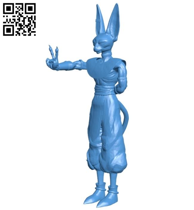 Beerus - 7 dragon balls B007137 file stl free download 3D Model for CNC and 3d printer