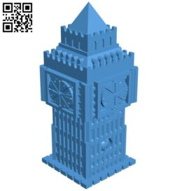 Big Ben tower – house B007441 file stl free download 3D Model for CNC and 3d printer