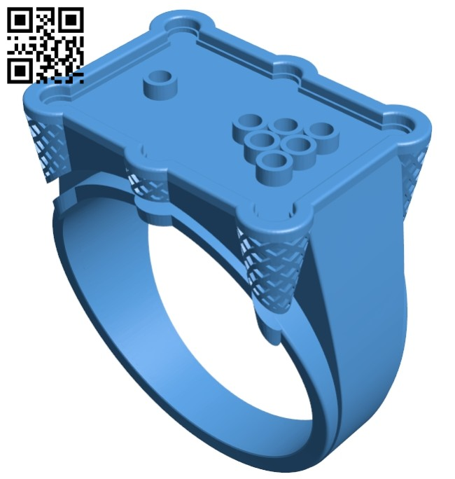 Billiard ring B007506 file stl free download 3D Model for CNC and 3d printer