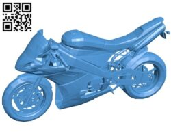 Black bike – moto B007582 file stl free download 3D Model for CNC and 3d printer