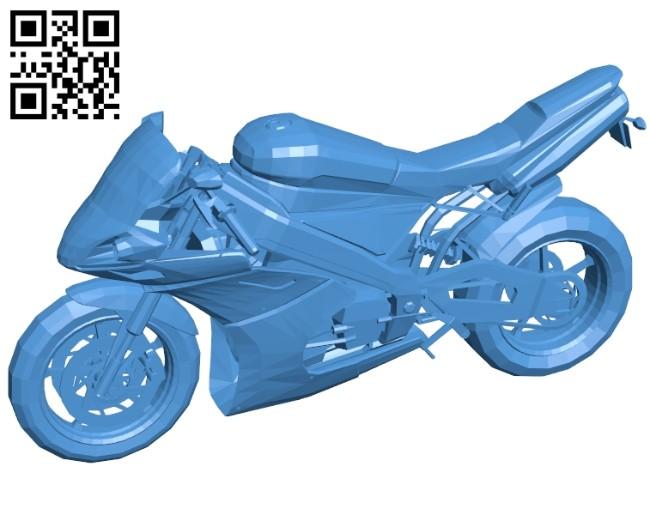 Black bike B007582 file stl free download 3D Model for CNC and 3d printer