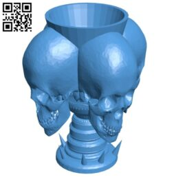 Blood bowl trophy B007586 file stl free download 3D Model for CNC and 3d printer