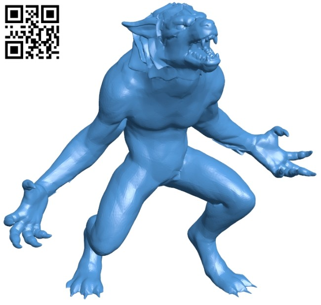 Blood rage wolfman B007466 file stl free download 3D Model for CNC and 3d printer
