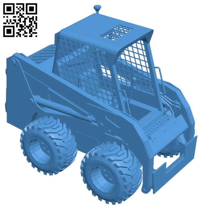 Bobcat truck S160 B007591 file stl free download 3D Model for CNC and 3d printer