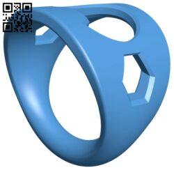Bottle Opener Ring B007362 file stl free download 3D Model for CNC and 3d printer