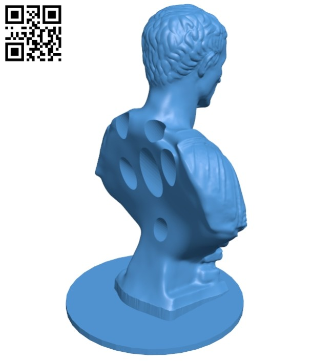 Caesar Pencil Holder B007470 file stl free download 3D Model for CNC and 3d printer