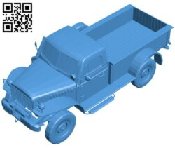 Cargo truck B007330 file stl free download 3D Model for CNC and 3d printer