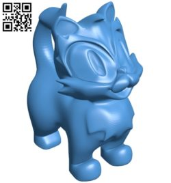 Cat figurine B007115 file stl free download 3D Model for CNC and 3d printer