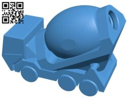 Cement Truck B007454 file stl free download 3D Model for CNC and 3d printer