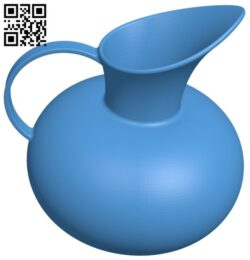 Ceramic vase Jug B007392 file stl free download 3D Model for CNC and 3d printer