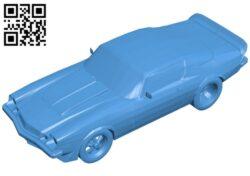 Chevrolet Camaro Car 1977 B007387 file stl free download 3D Model for CNC and 3d printer