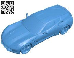 Chevrolet Corvette C7 Car B007376 file stl free download 3D Model for CNC and 3d printer