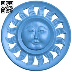 Circular disk pattern – sun A004861 download free stl files 3d model for CNC wood carving