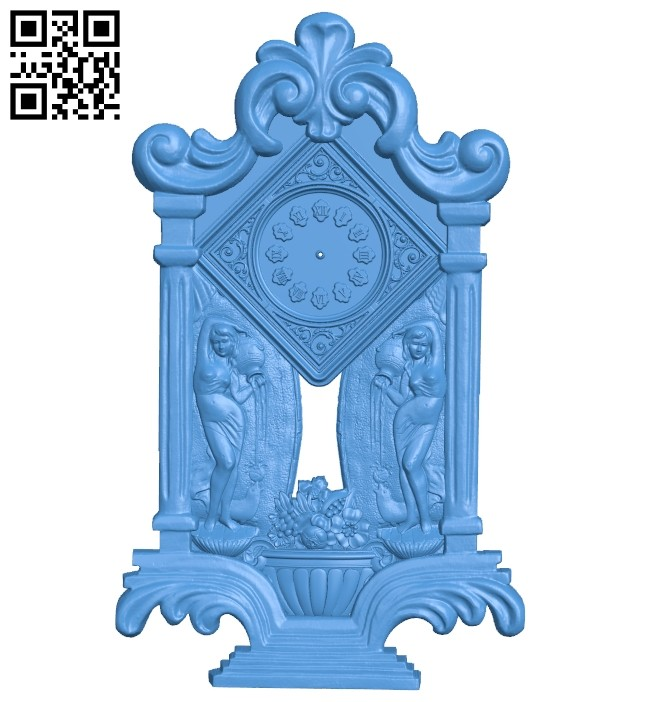 Clock watcher A004897 download free stl files 3d model for CNC wood carving