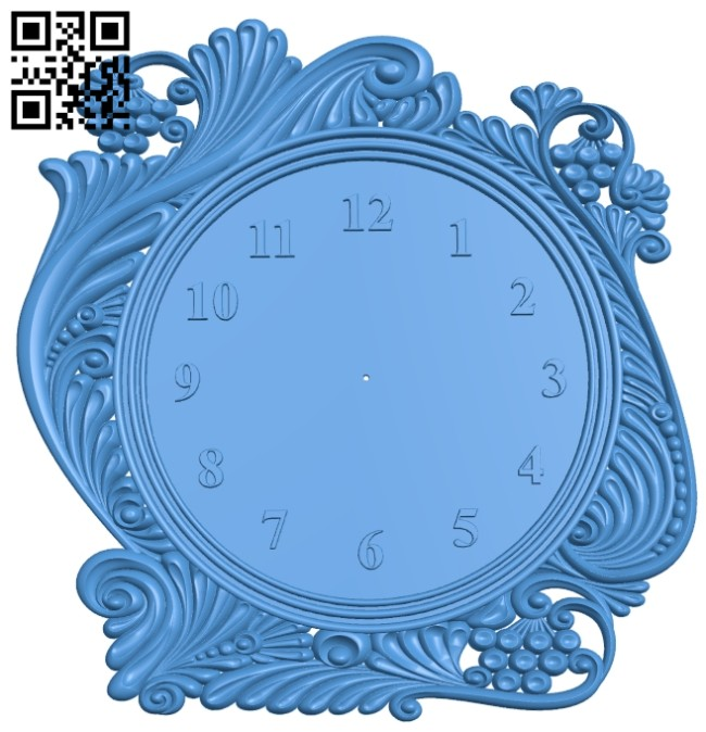 Clock watcher A004898 download free stl files 3d model for CNC wood carving