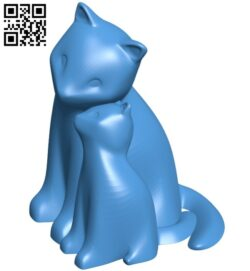 Cuddling cats B007421 file stl free download 3D Model for CNC and 3d printer