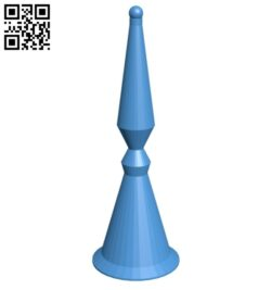 Cyl Bishop – chess B007162 file stl free download 3D Model for CNC and 3d printer