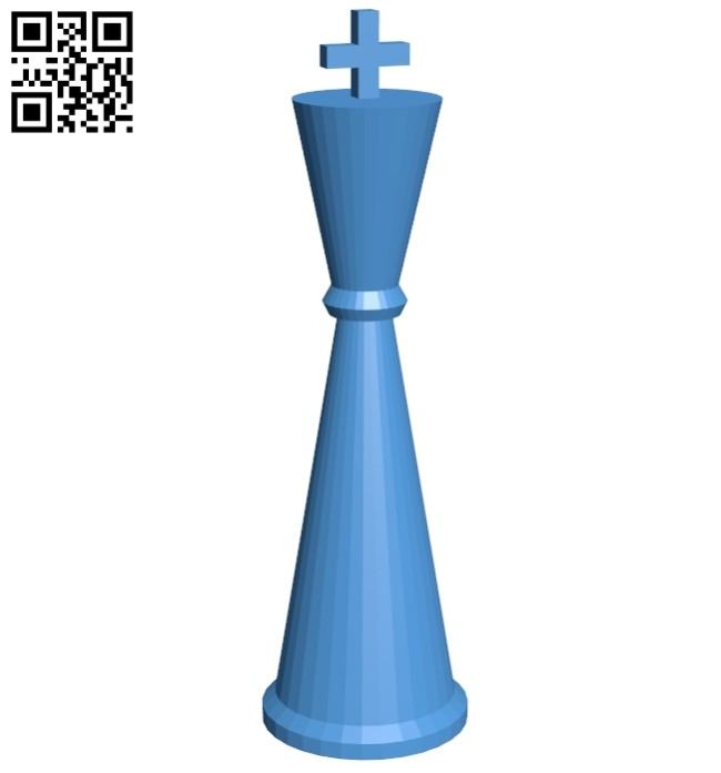 Cyl King - chess B007163 file stl free download 3D Model for CNC and 3d printer