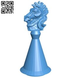 Cyl Knight – chess B007164 file stl free download 3D Model for CNC and 3d printer