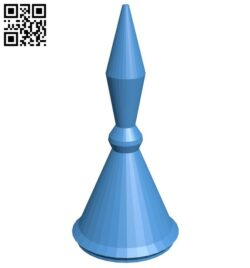 Cyl Pawn – chess B007165 file stl free download 3D Model for CNC and 3d printer