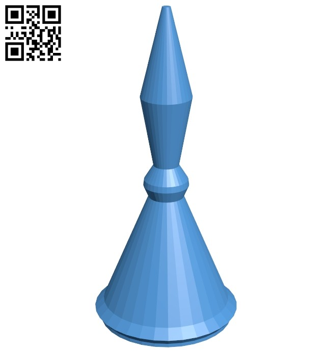 Cyl Pawn - chess B007165 file stl free download 3D Model for CNC and 3d printer