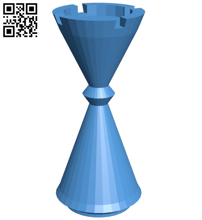 Cyl Rook - chess B007167 file stl free download 3D Model for CNC and 3d printer