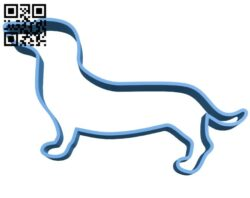 Dachshund cookie dog B007461 file stl free download 3D Model for CNC and 3d printer