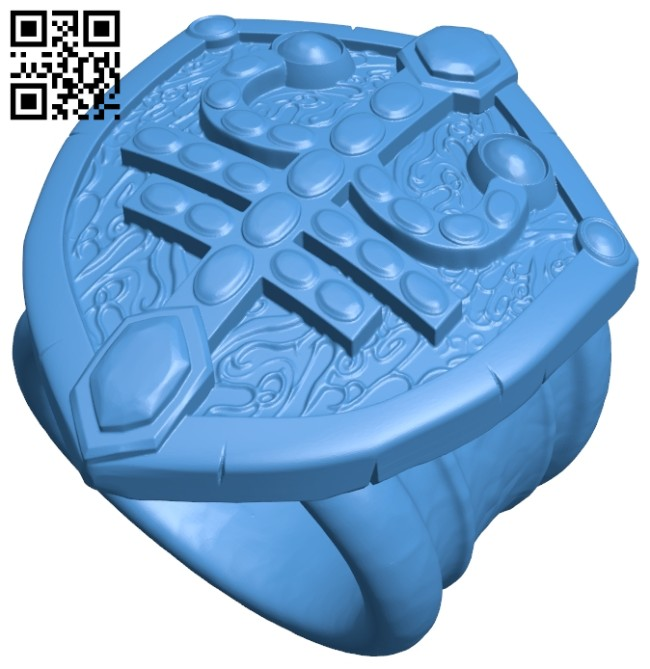 Defense ring B007473 file stl free download 3D Model for CNC and 3d printer