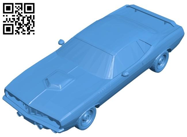 Dodge barracuda car B007400 file stl free download 3D Model for CNC and 3d printer