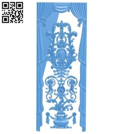 Door pattern A004789 download free stl files 3d model for CNC wood carving