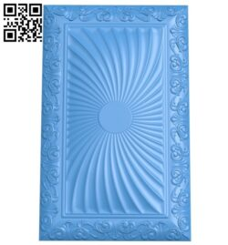 Door pattern A004790 download free stl files 3d model for CNC wood carving