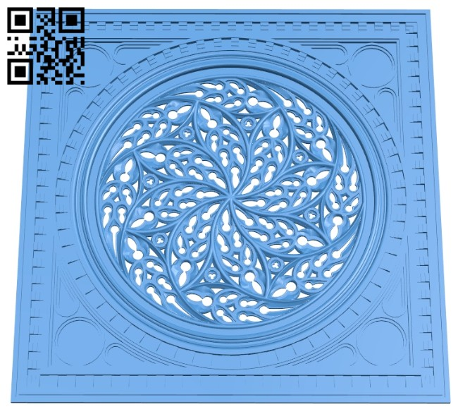 Door pattern A004792 download free stl files 3d model for CNC wood carving