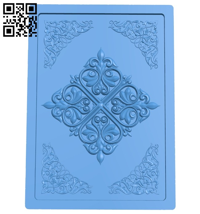 Door pattern A004793 download free stl files 3d model for CNC wood carving