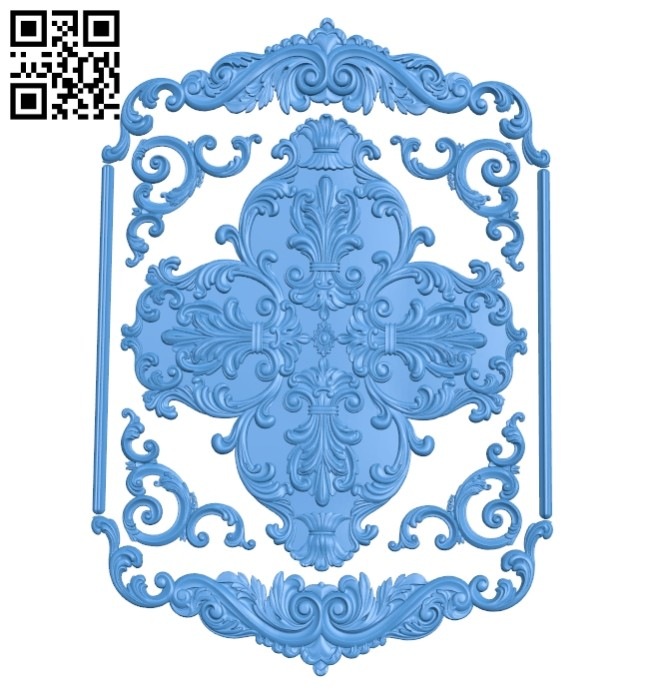 Door pattern A004794 download free stl files 3d model for CNC wood carving