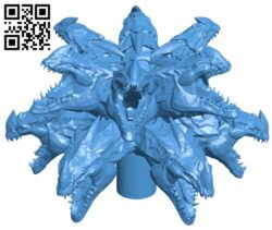 Dragon fountain head B007517 file stl free download 3D Model for CNC and 3d printer