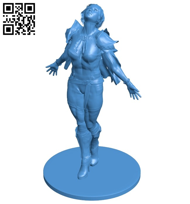 Dragon lady women B007393 file stl free download 3D Model for CNC and 3d printer