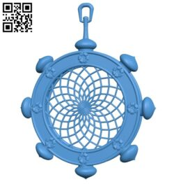 Dream catcher wheel B007510 file stl free download 3D Model for CNC and 3d printer