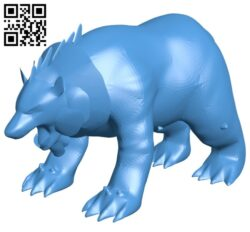 Druid Bear B007179 file stl free download 3D Model for CNC and 3d printer