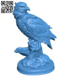 Eagle B007132 file stl free download 3D Model for CNC and 3d printer